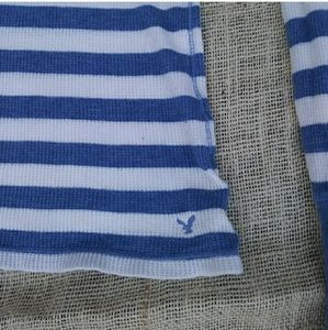 American Eagle Outfitters Tops - 🌴SALE🌴 American Eagle Blue Striped Thermal